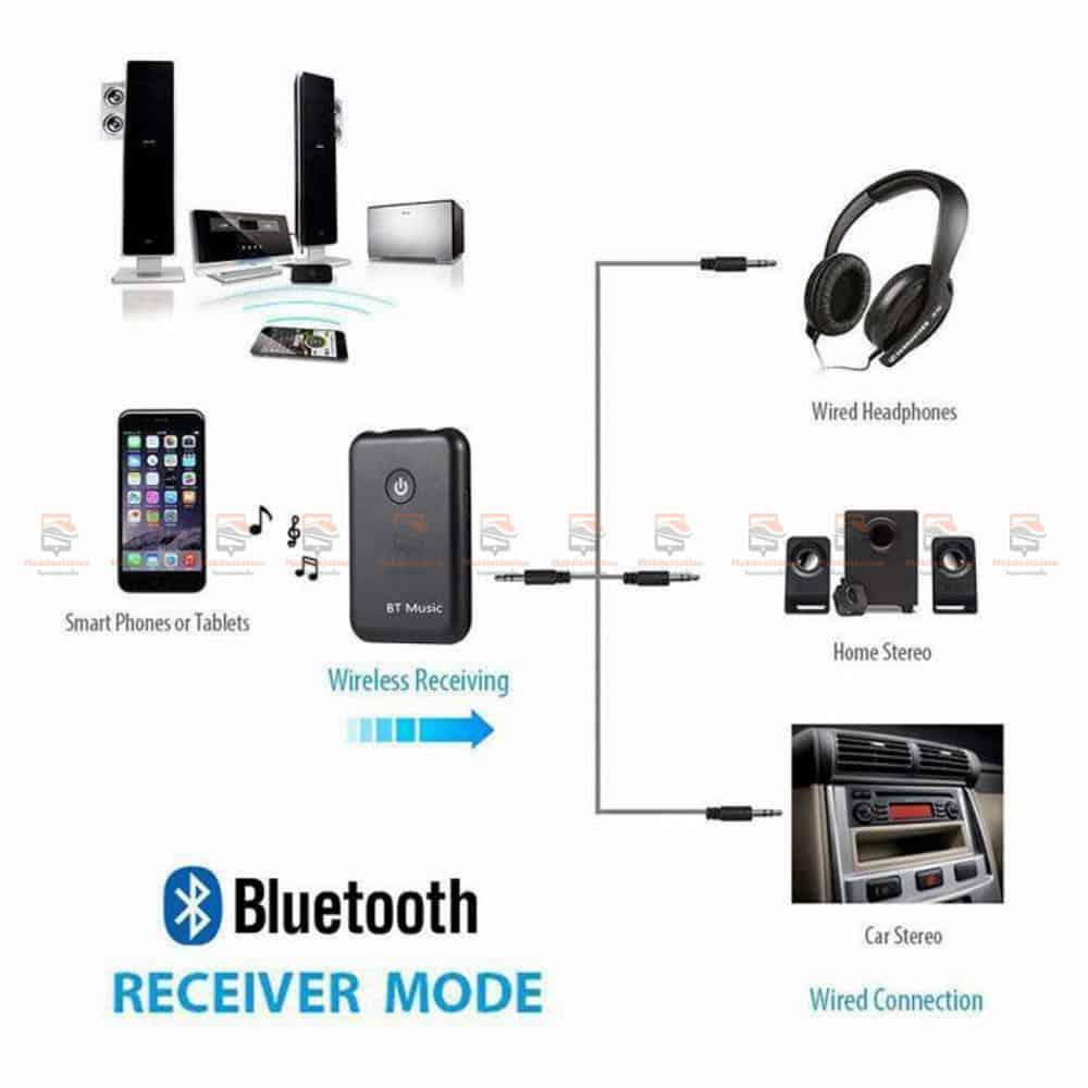 บลูทูธรถยนต์ Wireless Bluetooth Transmitter Receiver Stereo Audio Music Adapter-05