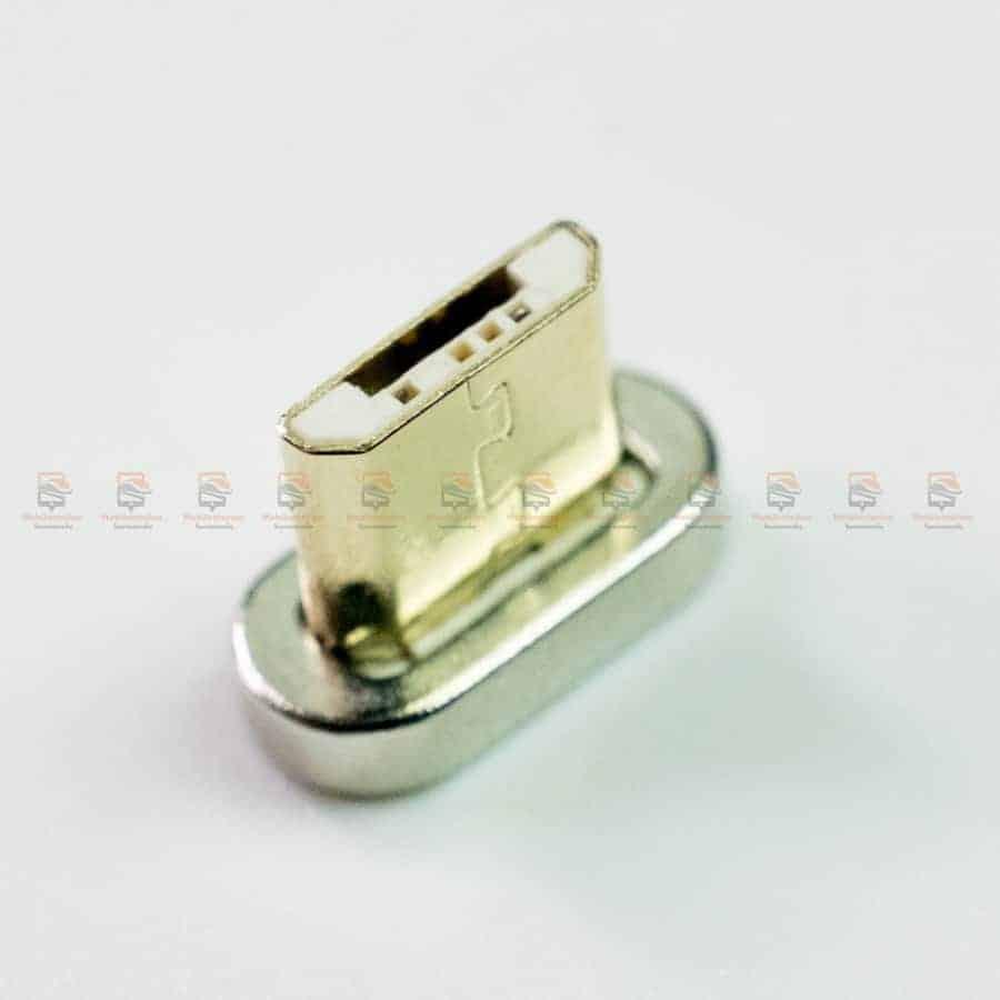 สายชาร์จแม่เหล็ก PZOZ Magnetic Cable Lighting Micro USB Type C Fast Charging รูปสินค้าจริง-6