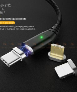 สายชาร์จแม่เหล็ก PZOZ Magnetic Cable Lighting Micro USB Type C Fast Charging 1