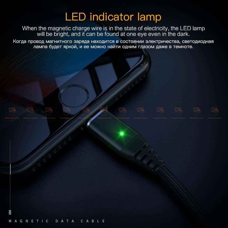 สายชาร์จแม่เหล็ก PZOZ Magnetic Cable Lighting Micro USB Type C Fast Charging 3