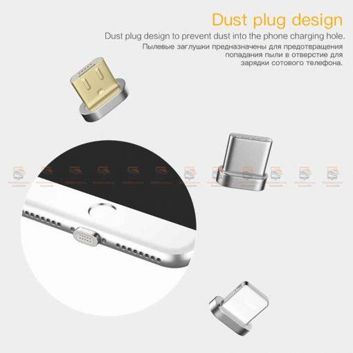 สายชาร์จแม่เหล็ก PZOZ Magnetic Cable Lighting Micro USB Type C Fast Charging 6