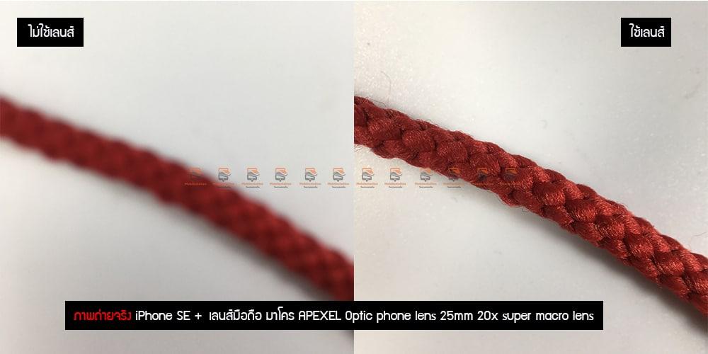 เลนส์มือถือ มาโคร APEXEL Optic phone lens 25mm 20x super macro lens รีวิว ภาพถ่ายจริง-5