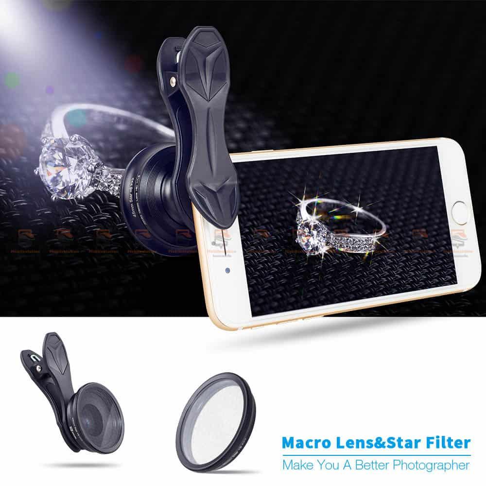 เลนส์มือถือ มาโคร APEXEL Optic phone lens 25mm 20x super macro lens-1