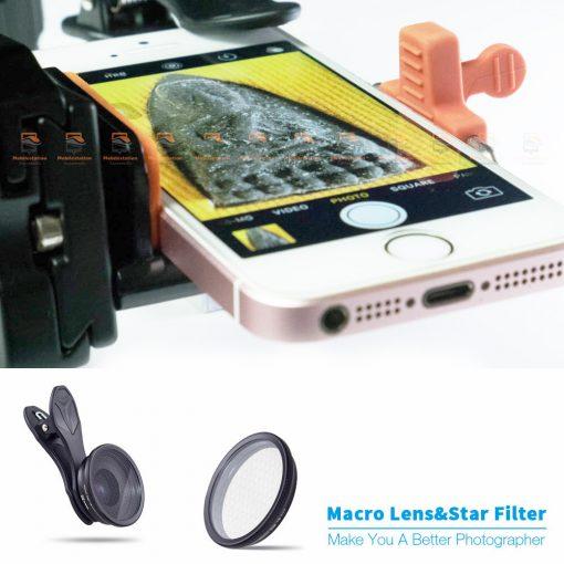 เลนส์มือถือ มาโคร APEXEL Optic phone lens 25mm 20x super macro lens-15