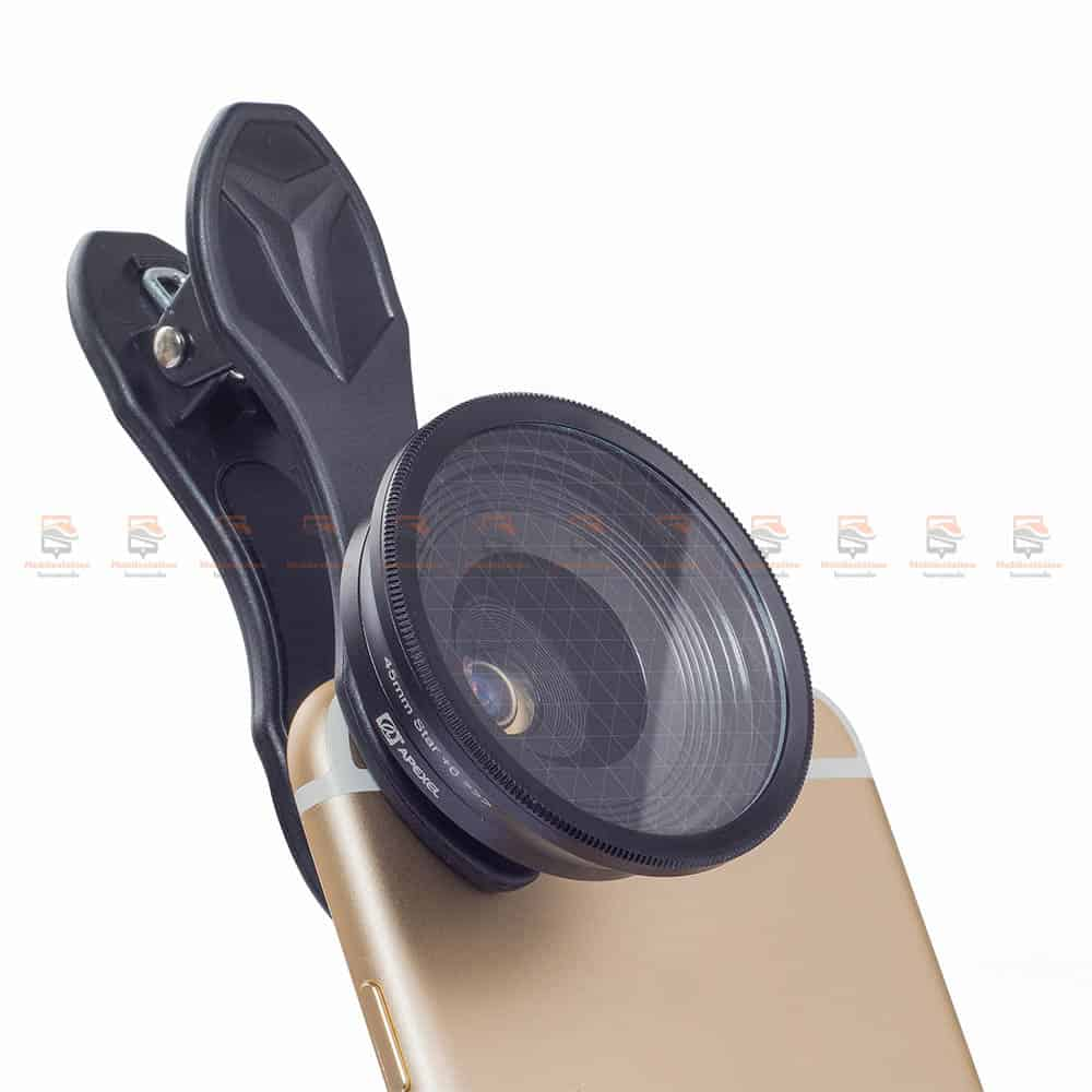 เลนส์มือถือ มาโคร APEXEL Optic phone lens 25mm 20x super macro lens-8