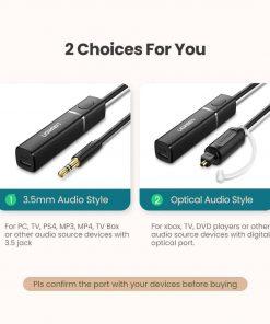 Ugreen Bluetooth Transmitter 5.0 TV Headphone PC PS4 aptX LL 3.5mm Aux SPDIF 3.5 Jack Optical Audio Music Bluetooth 5.0 Adapter 2 Choices