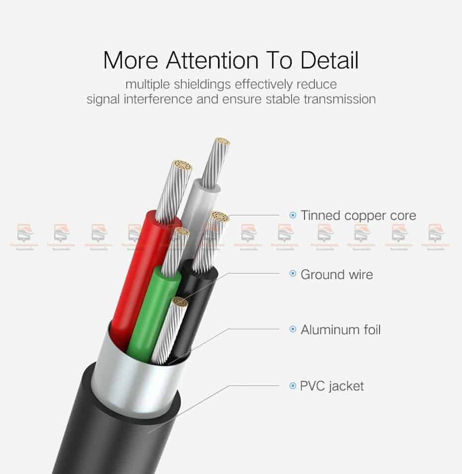 ต่อมือถือเข้าทีวี Ugreen HDMI Cable for iPhone 8 X 7 6s Plus iPad TV Android Phones-10