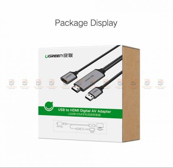 ต่อมือถือเข้าทีวี Ugreen for iPhone Android Phoneto HDMI Adapter Full HD 1080P รับรอง ไอโฟน 8 X 7 6s Plus / Samsung-13