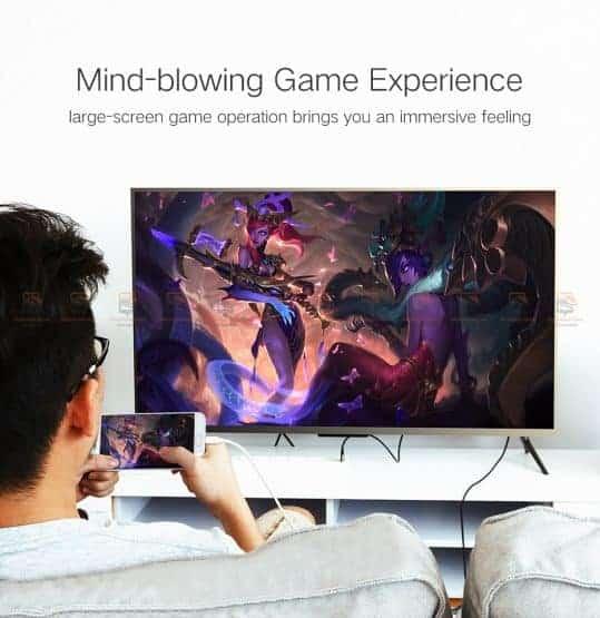 ต่อมือถือเข้าทีวี Ugreen for iPhone Android Phoneto HDMI Adapter Full HD 1080P รับรอง ไอโฟน 8 X 7 6s Plus / Samsung-6
