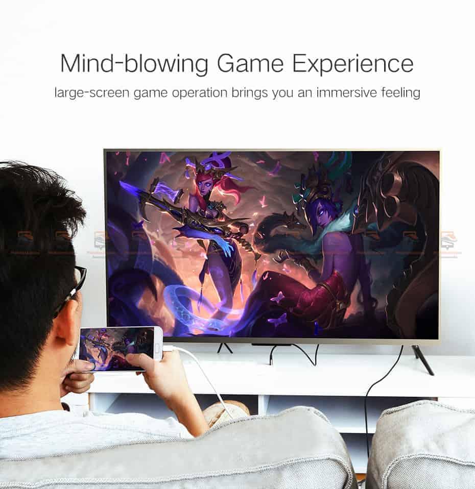 ต่อมือถือเข้าทีวี Ugreen HDMI Cable for iPhone 8 X 7 6s Plus iPad TV Android Phones-6
