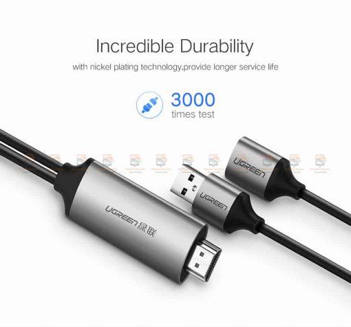ต่อมือถือเข้าทีวี Ugreen for iPhone Android Phoneto HDMI Adapter Full HD 1080P รับรอง ไอโฟน 8 X 7 6s Plus / Samsung-9
