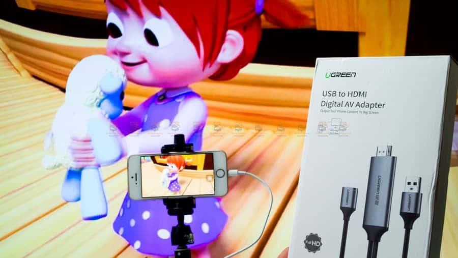 ต่อมือถือเข้าทีวี Ugreen for iPhone Android Phone ไอโฟน 8 X 7 6s Plus - Samsung รีวิว-17