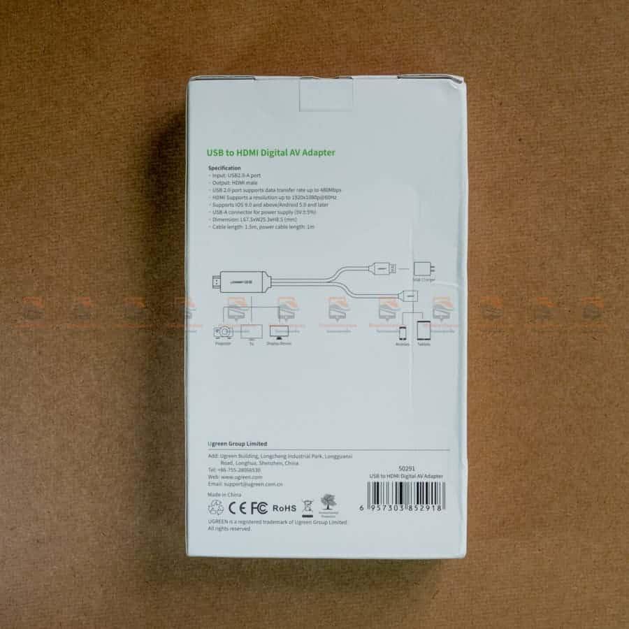 ต่อมือถือเข้าทีวี Ugreen for iPhone Android Phone ไอโฟน 8 X 7 6s Plus - Samsung รีวิว-2