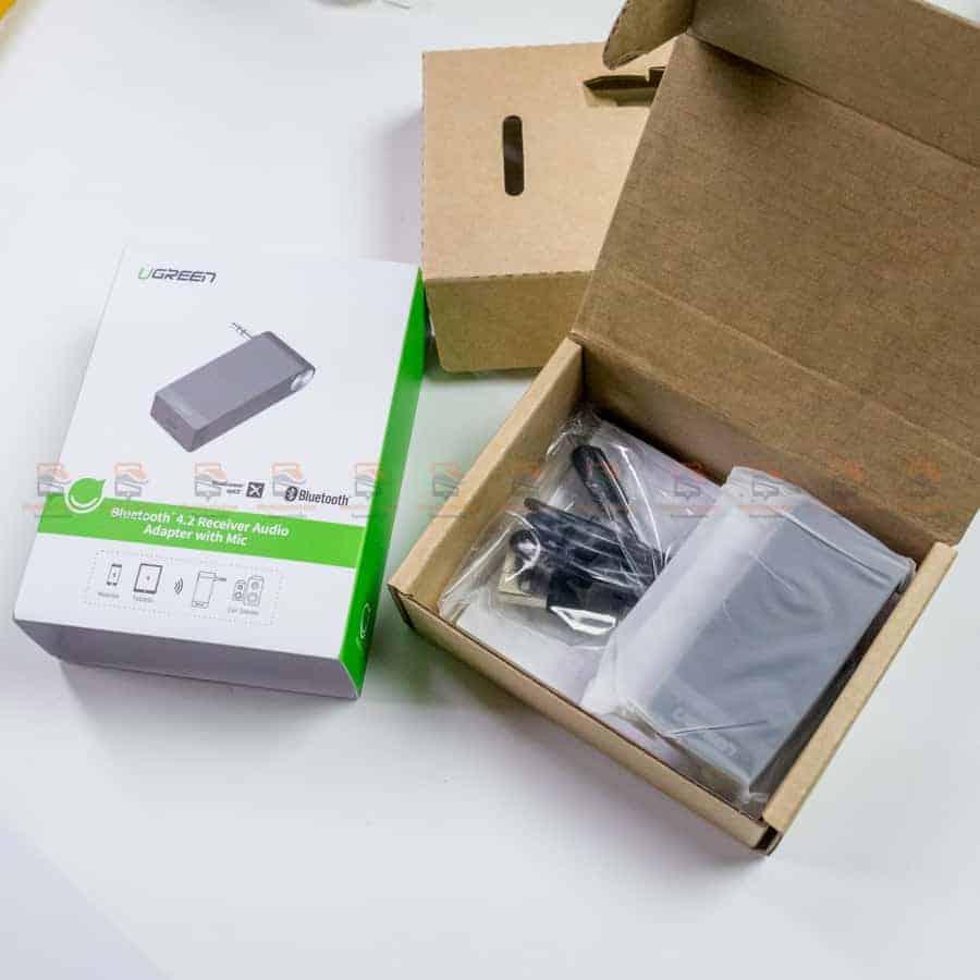 บลูทูธรถยนต์ Ugreen Bluetooth 4.2 Audio Receiver aptX รูปสินค้าจริง-3