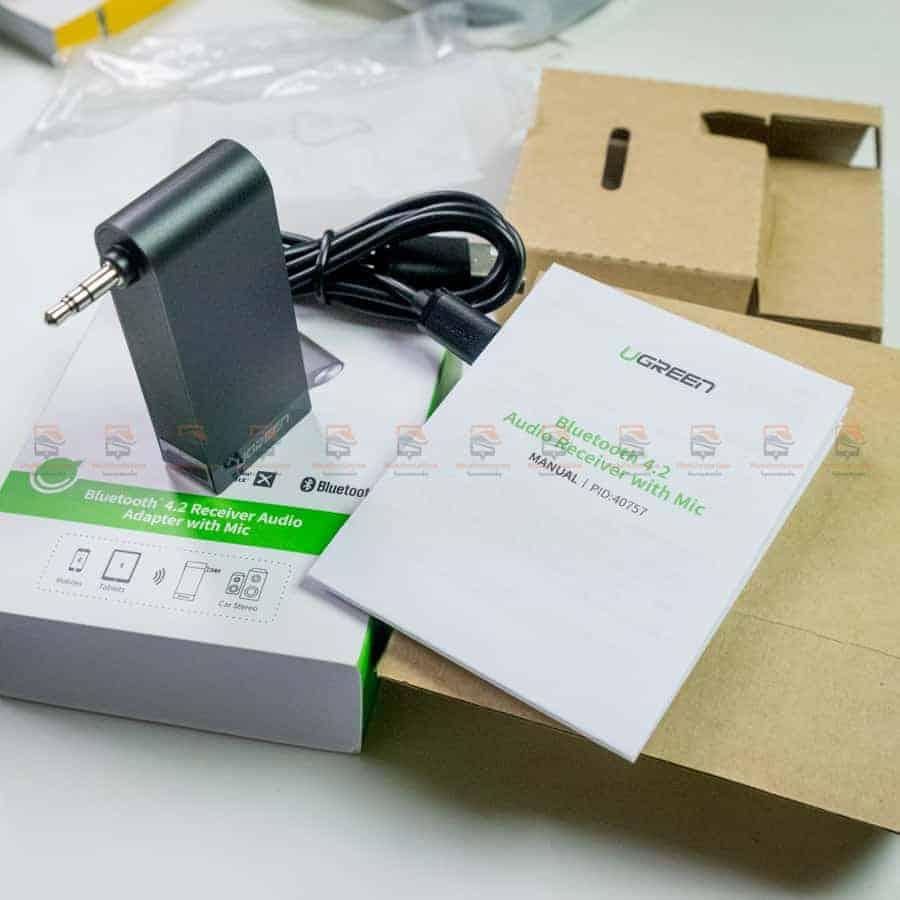 บลูทูธรถยนต์ Ugreen Bluetooth 4.2 Audio Receiver aptX รูปสินค้าจริง-4
