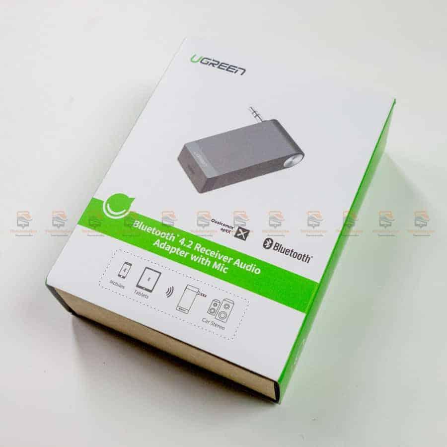 บลูทูธรถยนต์ Ugreen Bluetooth 4.2 Audio Receiver aptX รูปสินค้าจริง
