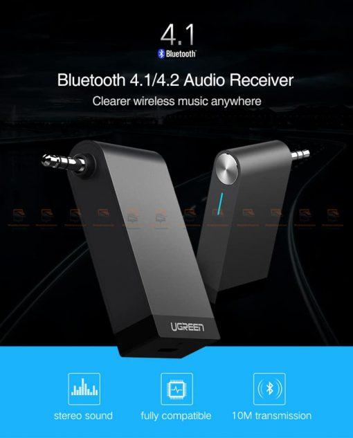 บลูทูธรถยนต์ Ugreen Bluetooth 4.2 Audio Receiver aptX-1