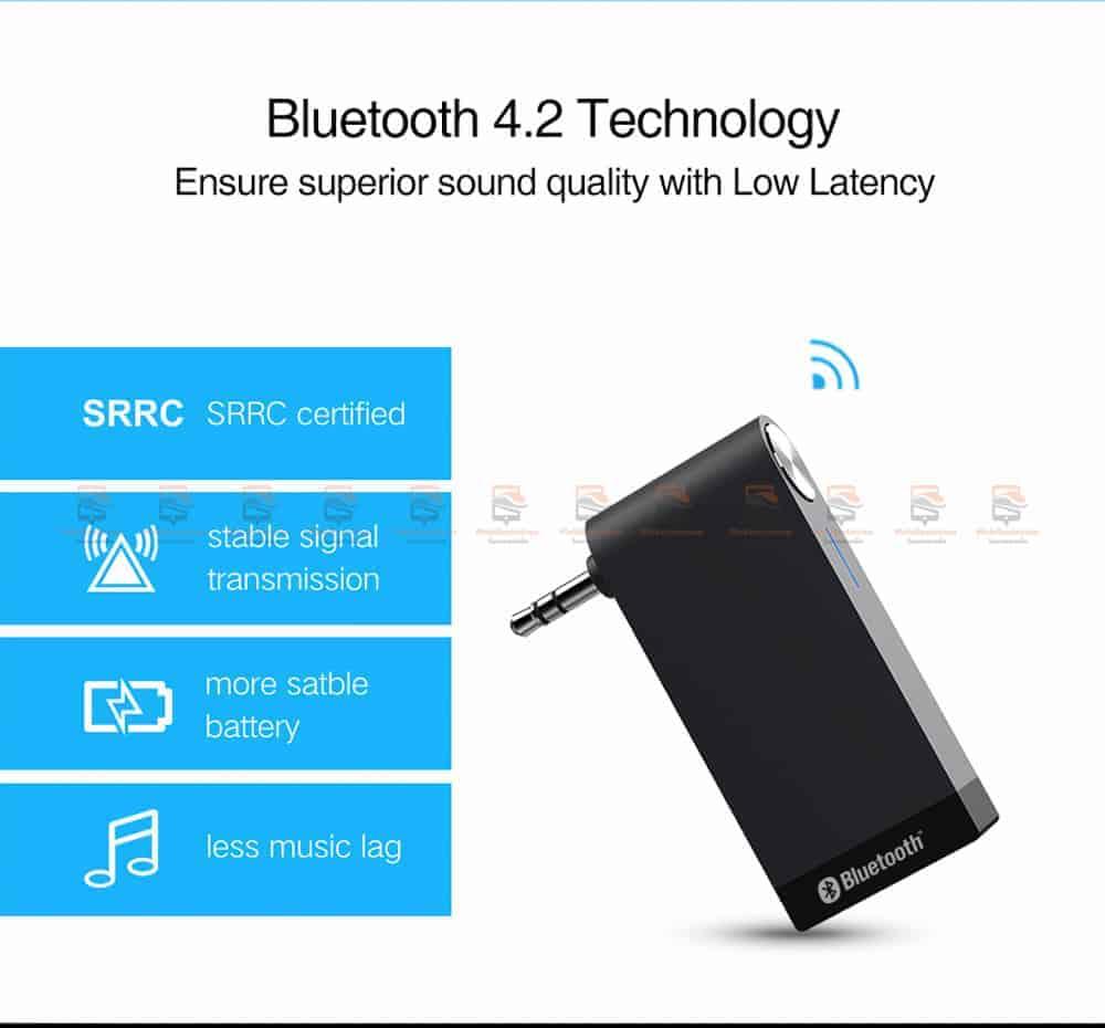 บลูทูธรถยนต์ Ugreen Bluetooth 4.2 Audio Receiver aptX-2