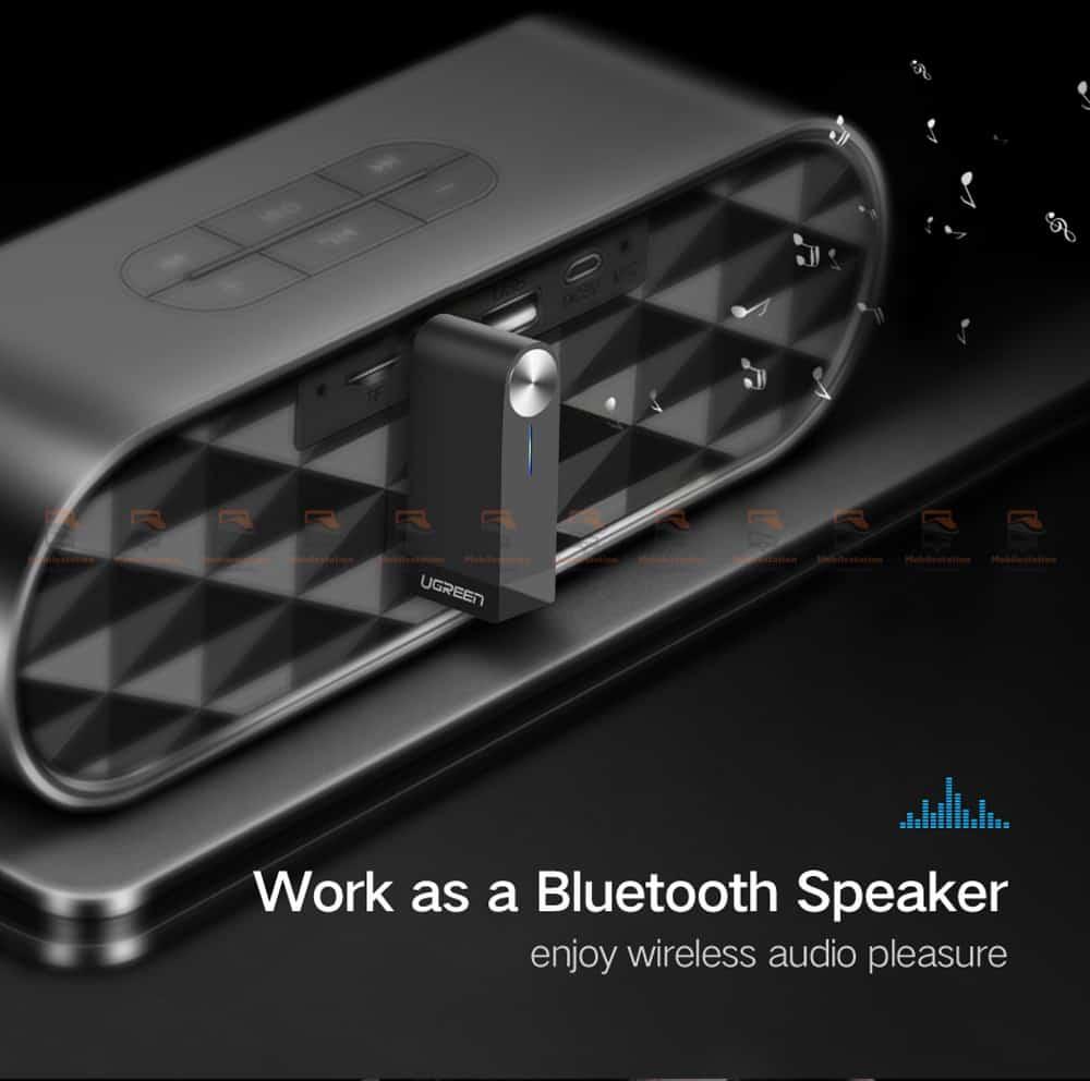 บลูทูธรถยนต์ Ugreen Bluetooth 4.2 Audio Receiver aptX-5