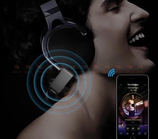 บลูทูธรถยนต์ Ugreen Bluetooth 4.2 Audio Receiver aptX-6