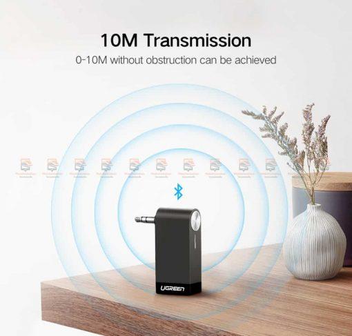 บลูทูธรถยนต์ Ugreen Bluetooth 4.2 Audio Receiver aptX-9