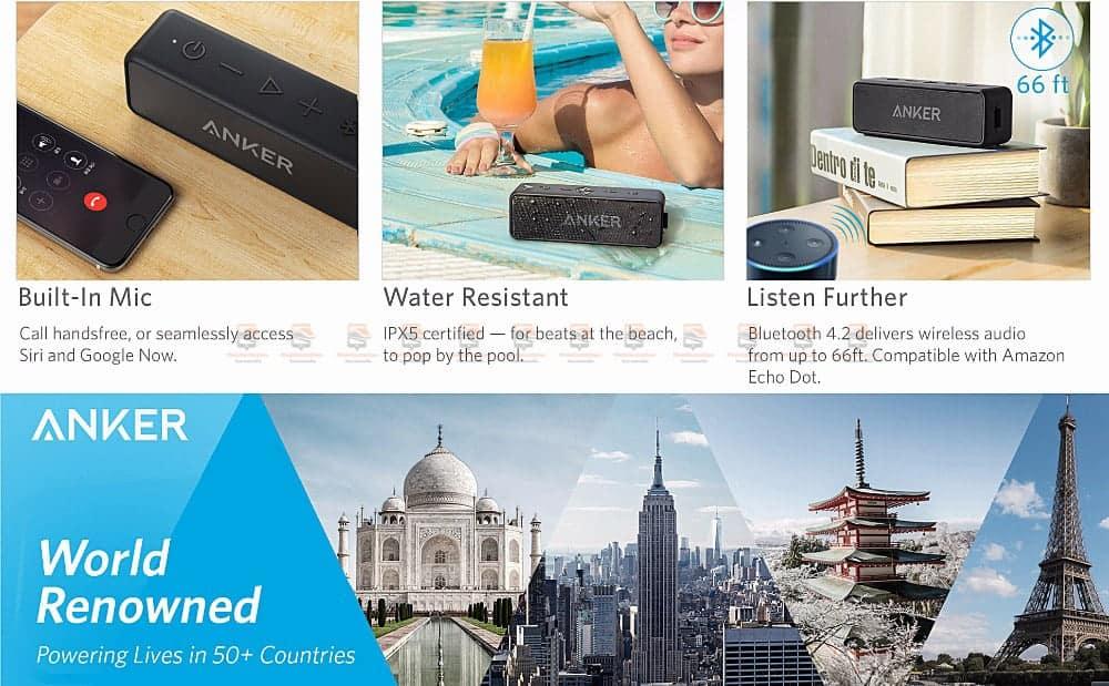 ลำโพงบลูทูธเสียงดี SoundCore 2 Bluetooth Speaker-2