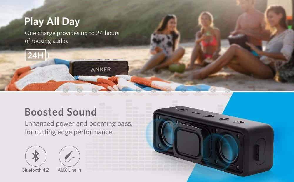 ลำโพงบลูทูธเสียงดี SoundCore 2 Bluetooth Speaker