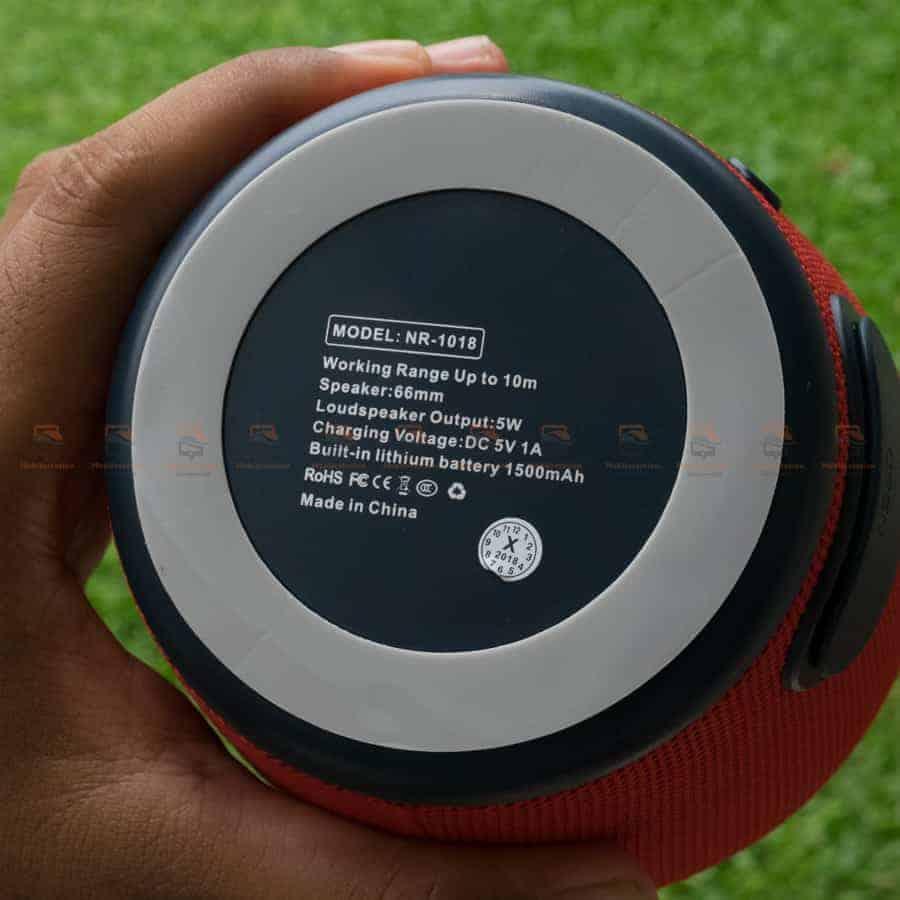 ลําโพงบลูทูธ NewRixing NR-1018 Outdoor Fabric Cloth Bluetooth Speaker Stereo Subwoofer 5W เสียงดี เบสหนัก รูปสินค้าจริง-13