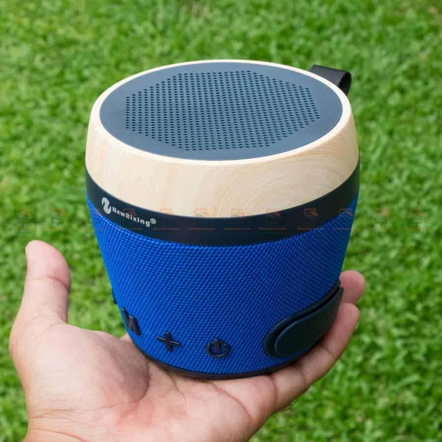 ลําโพงบลูทูธ NewRixing NR-1018 Outdoor Fabric Cloth Bluetooth Speaker Stereo Subwoofer 5W เสียงดี เบสหนัก รูปสินค้าจริง-2