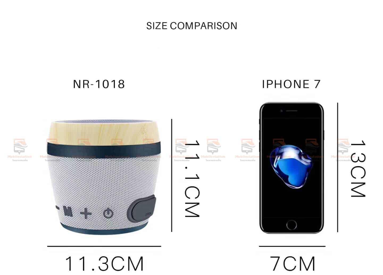 ลําโพงบลูทูธ ราคาถูก NewRixing NR-1018 Outdoor Fabric Cloth Bluetooth Speaker Stereo Subwoofer 5W เสียงดี เบสหนัก-3