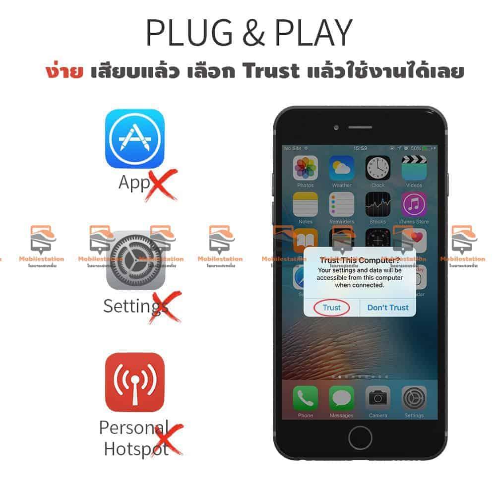 วิธีต่อ iPhone iPad (iOS) ทุกรุ่น เข้าทีวี