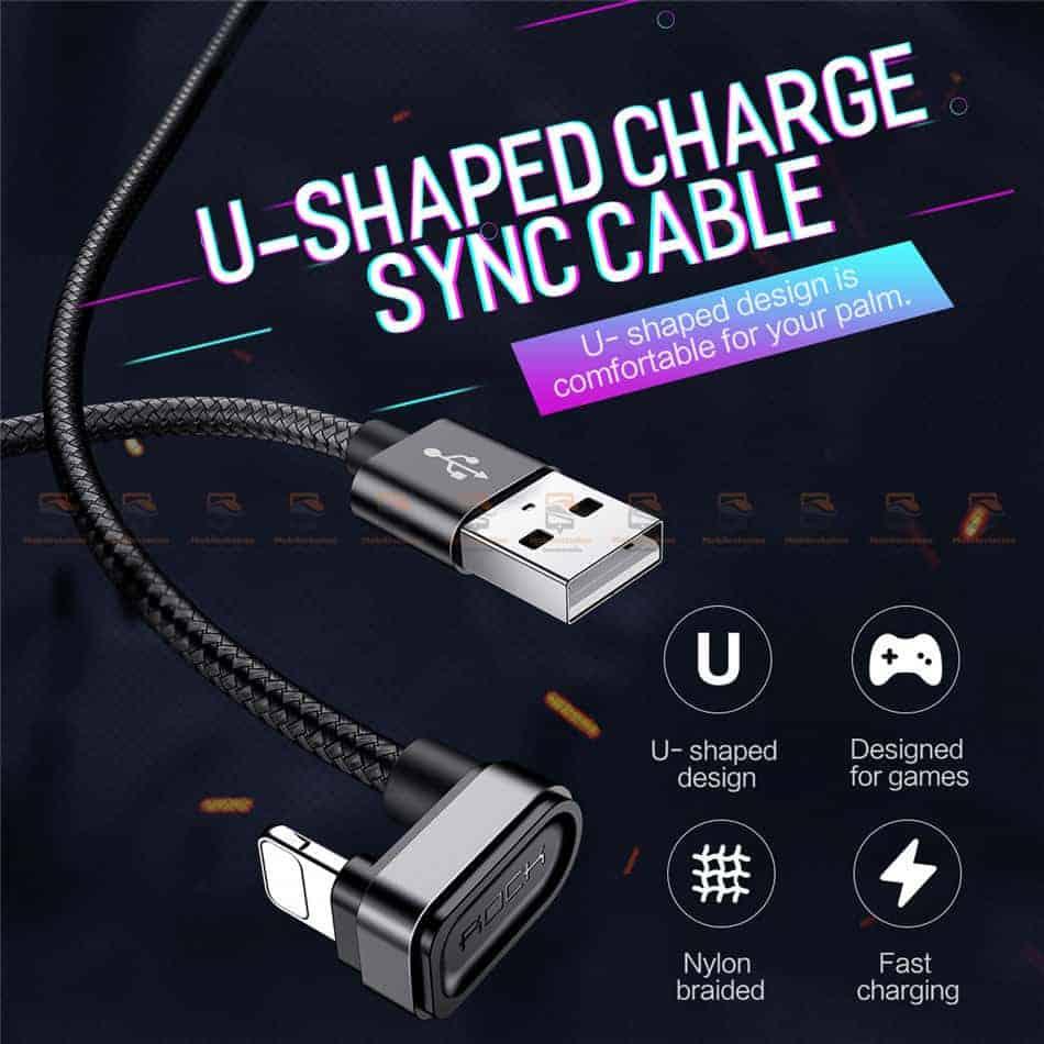 สายชาร์จเล่นเกมส์ ROCK for iPhone Game USB Cable Lightning 1
