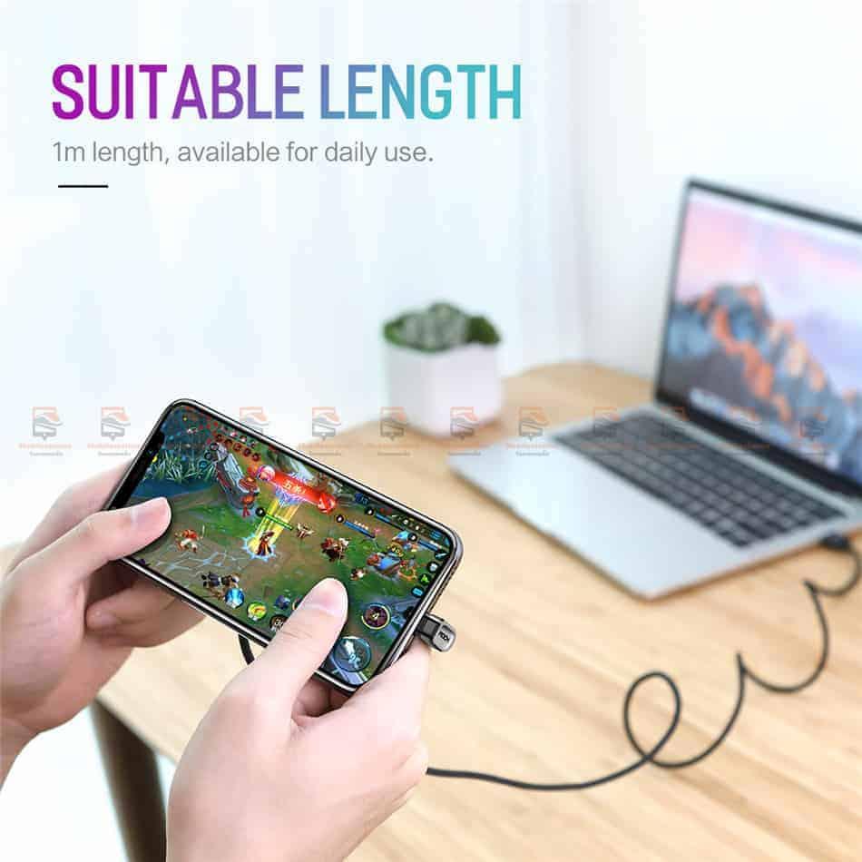สายชาร์จเล่นเกมส์ ROCK for iPhone Game USB Cable Lightning 10