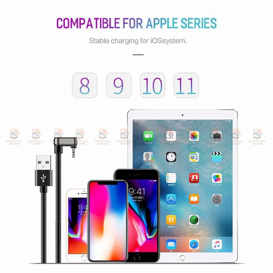 สายชาร์จเล่นเกมส์ ROCK for iPhone Game USB Cable Lightning 12