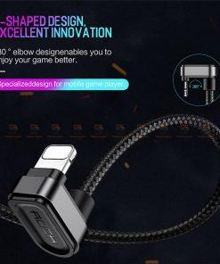 สายชาร์จเล่นเกมส์ ROCK for iPhone Game USB Cable Lighting 3