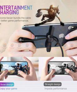 สายชาร์จเล่นเกมส์ ROCK for iPhone Game USB Cable Lighting 4