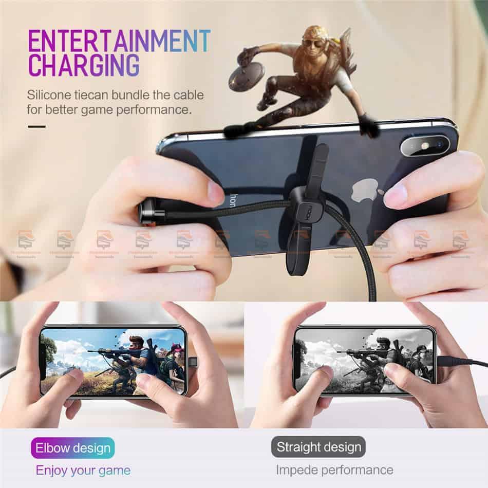 สายชาร์จเล่นเกมส์ ROCK for iPhone Game USB Cable Lightning 4