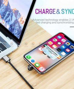 สายชาร์จเล่นเกมส์ ROCK for iPhone Game USB Cable Lighting 6
