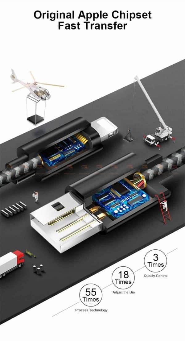 สายชาร์จไอโฟน Coolreall MFI USB Charger Cable for iPhone X7865 Cable Fast Charger-3