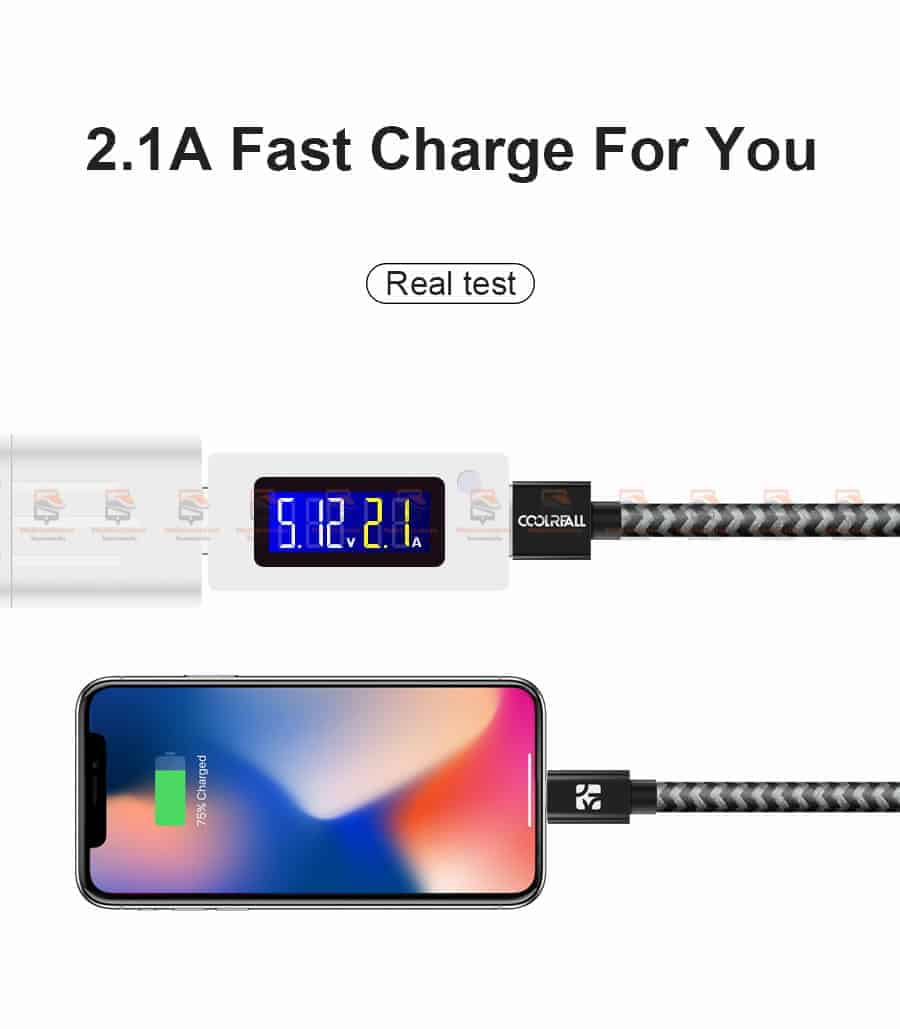 สายชาร์จไอโฟน Coolreall MFI USB Charger Cable for iPhone X7865 Cable Fast Charger-4
