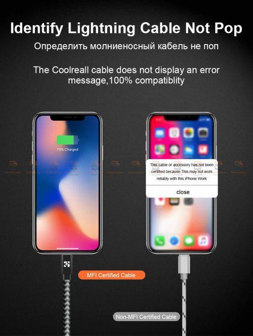 สายชาร์จไอโฟน Coolreall MFI USB Charger Cable for iPhone X7865 Cable Fast Charger-6