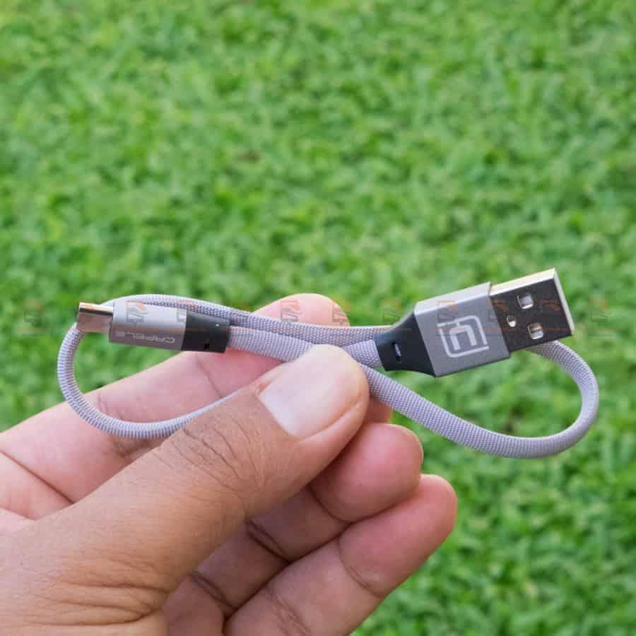 สายชาร์จ Samsung Android สายสั้น Cafele USB Cable Fast Charging Data Cable 30 Cm สินค้าจริง-2