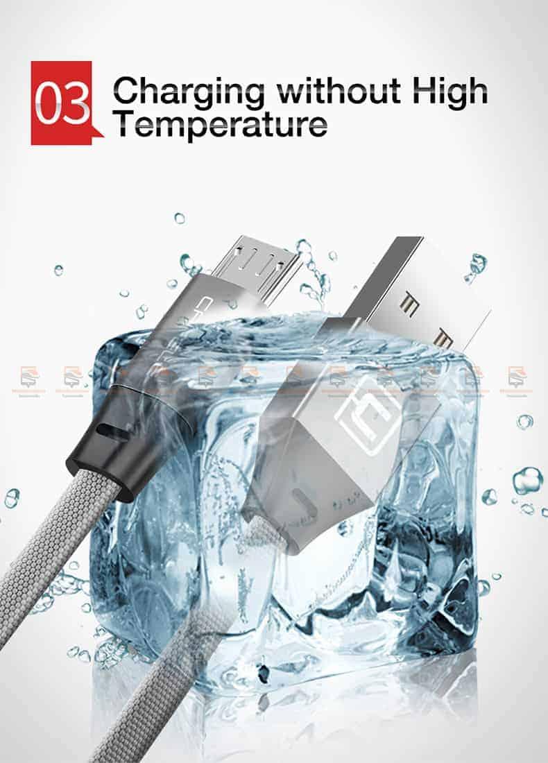 สายชาร์จ Samsung Android Cafele USB Cable Fast Charging Data Cable สั้น 30 Cm-6