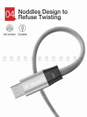 สายชาร์จ Samsung Android สายสั้น Cafele USB Cable Fast Charging Data Cable สั้น 30 Cm-7