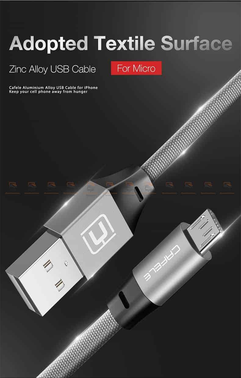 สายชาร์จ Samsung Android Cafele USB Cable Fast Charging Data Cable สั้น 30 Cm