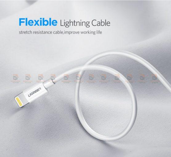สายชาร์จไอโฟน Ugreen MFi Lightning to USB Cable for iPhone X 7 6 5 6s Plus Fast Charging-10