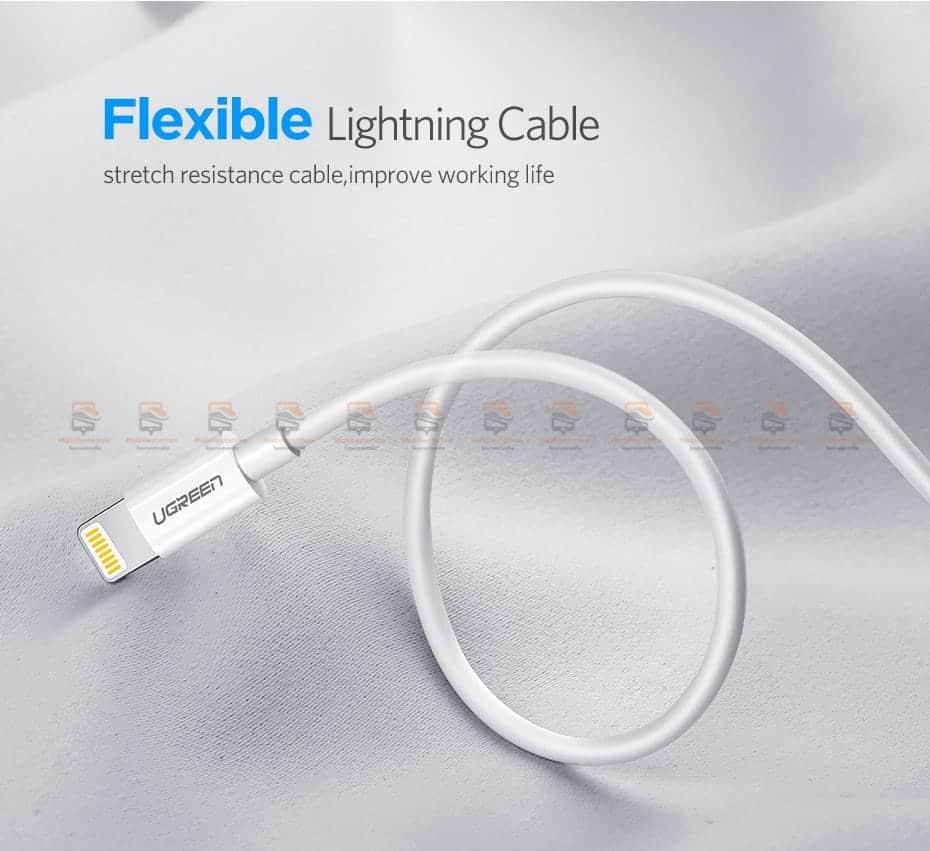 สายชาร์จ Ugreen MFi Lightning to USB Cable for iPhone X 7 6 5 6s Plus Fast Charging-10