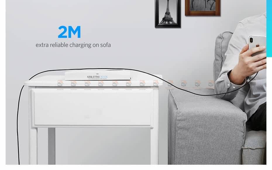 สายชาร์จ Ugreen MFi Lightning to USB Cable for iPhone X 7 6 5 6s Plus Fast Charging-13