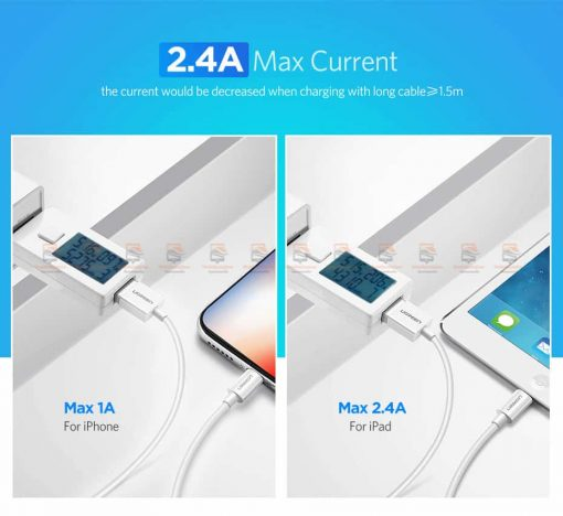สายชาร์จไอโฟน Ugreen MFi Lightning to USB Cable for iPhone X 7 6 5 6s Plus Fast Charging-3
