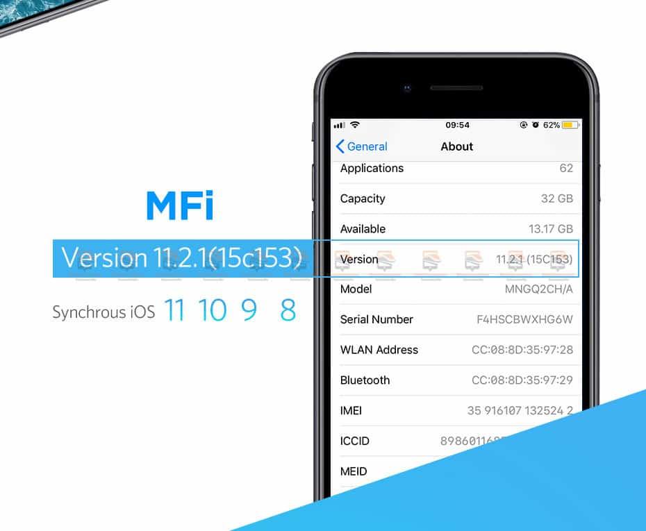 สายชาร์จ Ugreen MFi Lightning to USB Cable for iPhone X 7 6 5 6s Plus Fast Charging-5